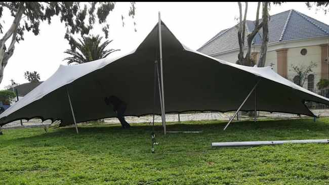 Cape resident's marquee to shelter homeless from cold weather dismantled by City