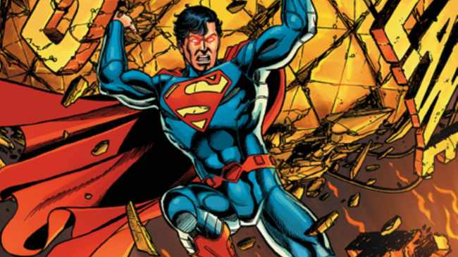 """In this comic book image released by DC Comics, the cover of """"Superman"""" No. 1, is shown. More than seven decades after Superman made his debut in """"Action Comics,"""" DC says its longest-running comic book title will restart at No.1 in September with a the Man of Steel sporting a full-blue look minus his long-standing red trunks. (AP Photo/DC Comics)"""