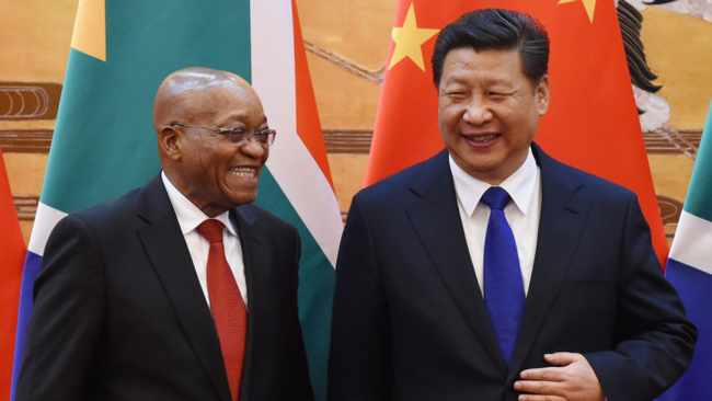 President Jacob Zuma and Chinese President Xi Jinping attend a signing ceremony at the Great Hall of the People in Beijing, China. Picture: Wang Zhao