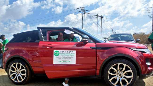 Seipati Msimang stole the show as she showed off her gleaming new Range Rover Evoque that she says she bought cash on her birthday last month.