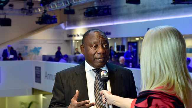 ANC president Cyril Ramaphosa made a strong impression at the WEF in Davos.  Picture: Ayanda Ndamane/ African News Agency/ ANA