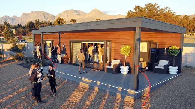 ECO-FRIENDLY: Innovative Modular Concepts showed off their new house which is built using a shipping container as a base.