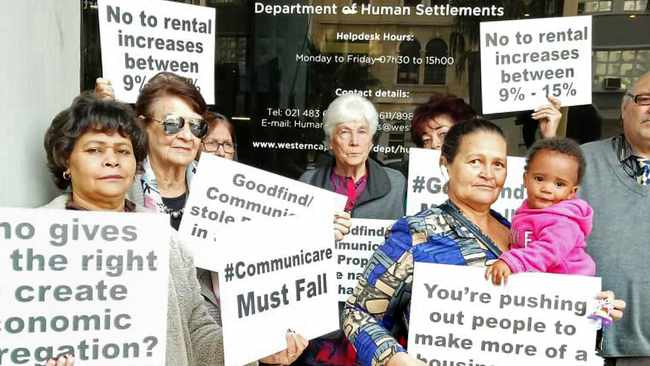PROTEST: Tenants of Communicare have said the organisation had lost the plot, following a recent ruling labelling rent increases as 'exploitive and exorbitant' Picture: Marvin Charles/Cape Argus