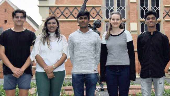 Pietermaritzburg Girls' High and Maritzburg College pupils, from left, Teagan Moroney, Tameka Govender, Nishalan Govender, Rachael Job and Saahil Bridglall were some of the high achievers in the capital city.