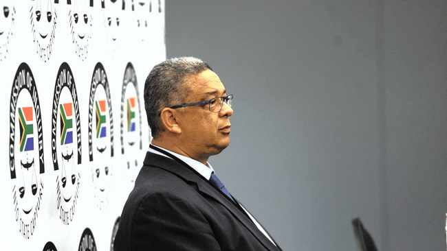 Former Independent Police Investigative Directorate head Robert McBride testifying at the state capture inquiry. Photo: Bhekikhaya Mabaso/African News Agency (ANA)