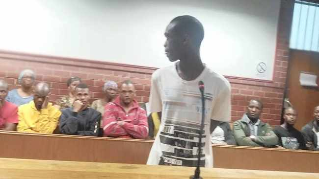 Khayelihle Nzimande, 25, in the Pinetown Magistrate's Court yesterday. He is accused of the murder of a fellow UKZN student.