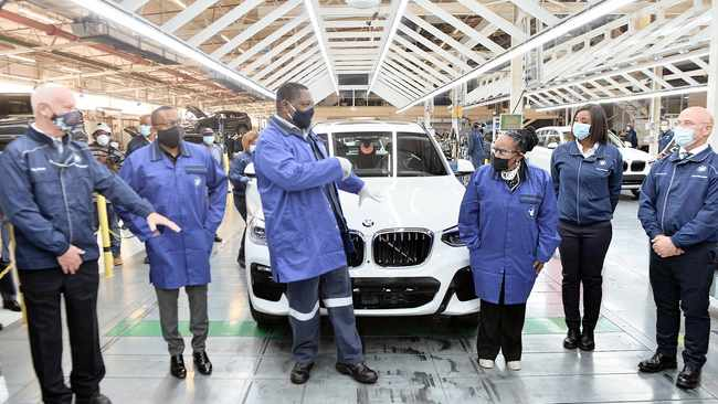 PREMIER David Makhura at BMW plant in Rosslyn yesterday to monitor compliance with lockdown laws.     Oupa Mokoena  African News Agency (ANA)