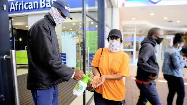 Masentle Marumo is a community patroller at Jabulani Mall in Soweto. The Gauteng Department of Community Safety has deployed 3 000 community patrollers to assist mall-goers.     Nokuthula Mbatha African News Agency (ANA)