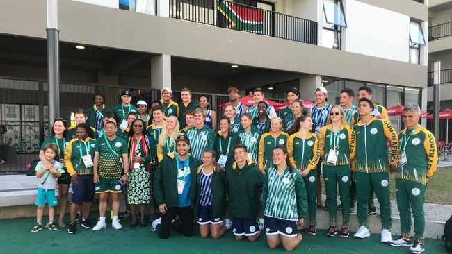 TeamSA pictured in the Youth Olympics Athletes' Village. Photo: @TeamSA18 on twitter