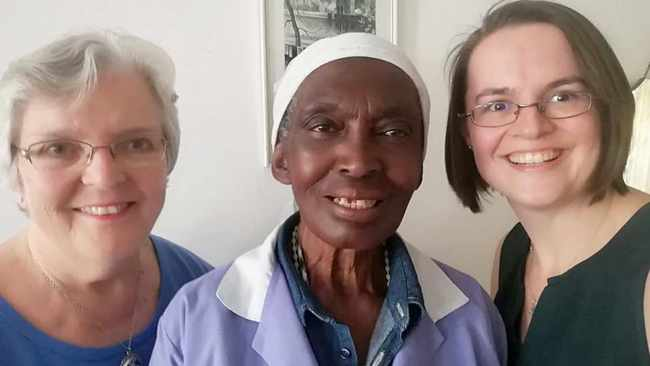 Michelle Hugo, 68, and daughter Kerryn Hugo, 35, with Antonia Mtambo, 69. Picture: Supplied