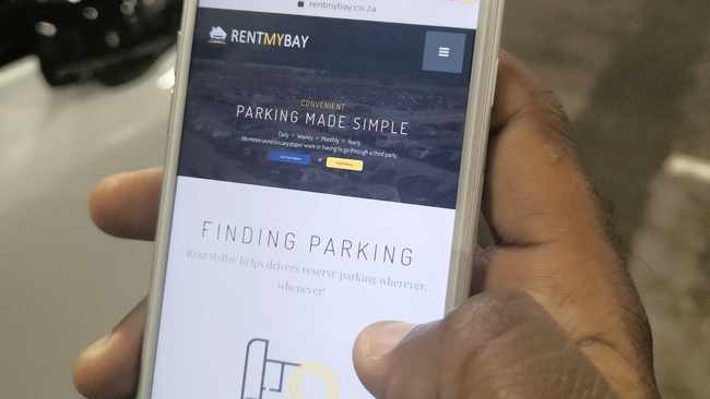 ENTREPRENEURS Craig Murray and Andreas Botha have created an app, RentMyBay, which aims to make parking in the CBD more accessible and affordable. Picture: Supplied