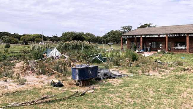 Group staying at old circus school in Observatory are petitioning the City to lease the property to the residents. Picture: Marvin Charles/Cape Argus