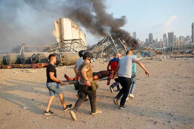 132395d6 2e5d 57d0 ad24 b4a6f34ac79a - PICS: Death toll in Beirut blast rises to over 50, thousands injured, says Lebanon health minister