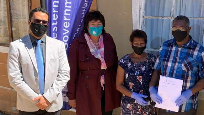 1cca0533 530b 5636 9186 52943c0d598f - WATCH: Pniel beneficiaries overjoyed receive title deeds to new homes