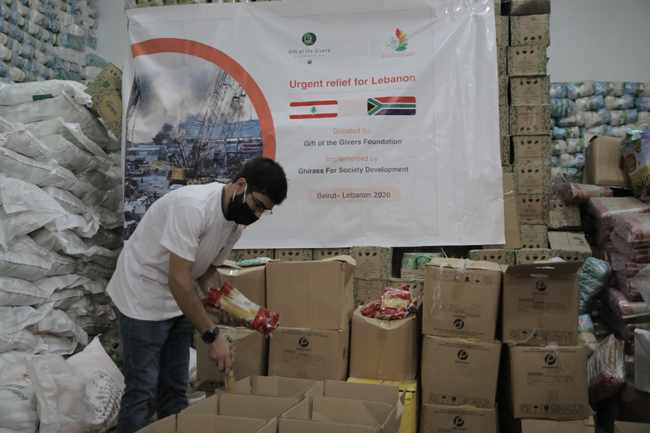 80879676 6f49 5129 8290 368451219ff3 - PICS: Gift of the Givers raises R1m, assists with donations for Beirut blast survivors