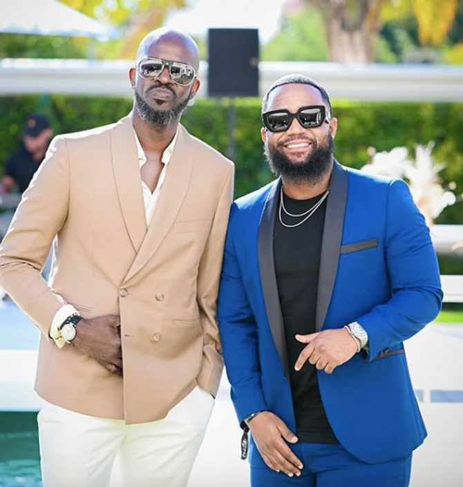 Black Coffee and Cassper Nyovest at Black Coffee's Birthday Luncheon (Pictures from Instagram by Cedricnzaka and supplied)
