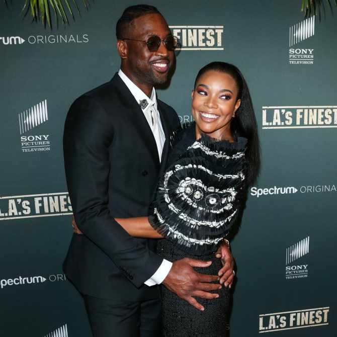 Dwyane Wade and Gabrielle Union. Image: Supplied