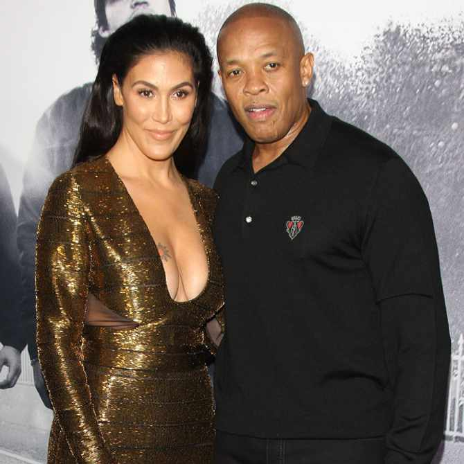 Dr Dre and wife, Nicole Young. Image: Supplied
