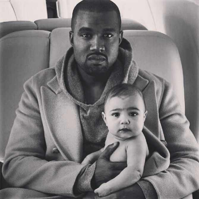 Picture: Kanye West with daughter North, Instagram