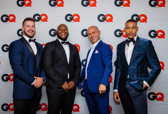 Innovator of the Year: Ahren Posthumus, GQ Editor-in-Chief Molife Kumona, Humanitarian of the Year: Danny Diliberto of Ladles of Love and Expresso Morning Show Presenter, Thabiso Makhubela