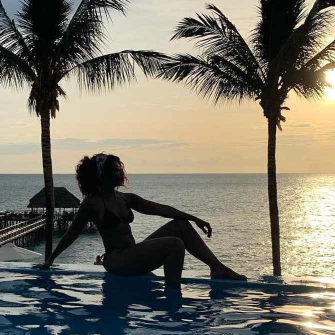 PICS: Pearl Modiadie shares sun-kissed snaps from island vacay