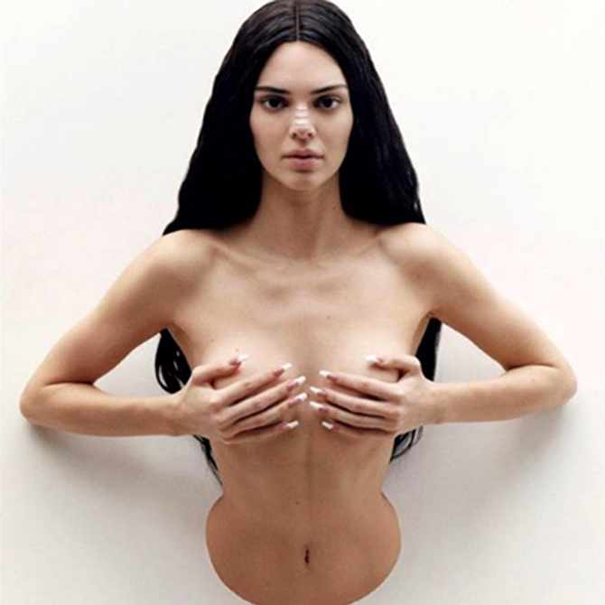 Kendall Jenner models as Trophy Wife for Maurizio Cattelan