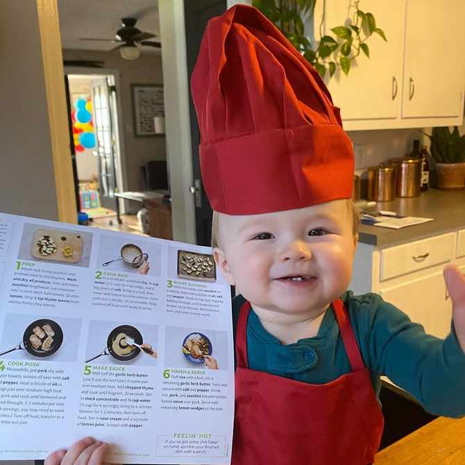 OMG! Baby Chef Kobe just melted our hearts 😍😭