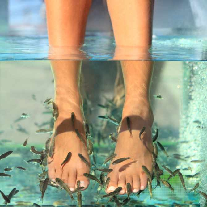 """This woman's toenails fell off after getting a """"Fish Pedicure"""""""