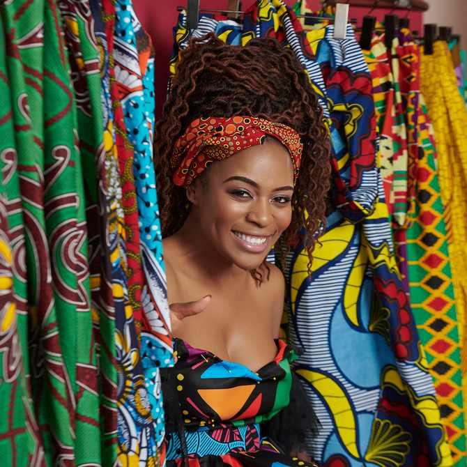 Get the inside scoop on the design process of this African-inspired dress!