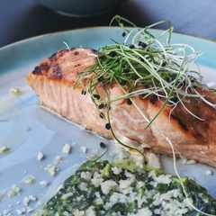 Recipe: Baked Salmon with Salsa Verde