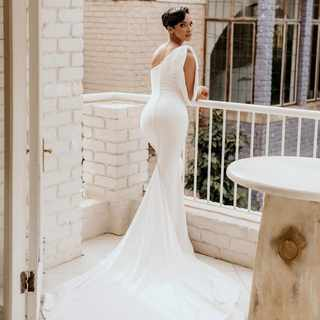 Inside Liesl and Dr Musa's white wedding