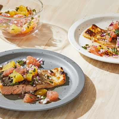 A fresh 20-minute take on the classic pairing of salmon and citrus