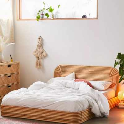 Bring On the Bedroom Drama With a Rattan Bed
