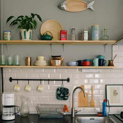 How to spruce up your kitchen with a statement shelf