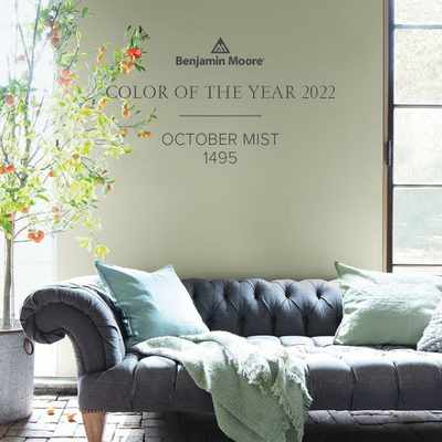 October Mist named as Benjamin Moore's Colour of the Year for 2022