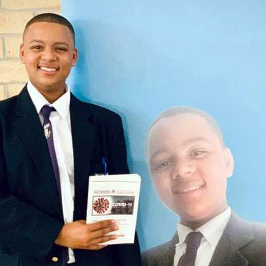 Teen's lockdown diary: Grade 9 boy launches book detailing his life during Covid pandemic