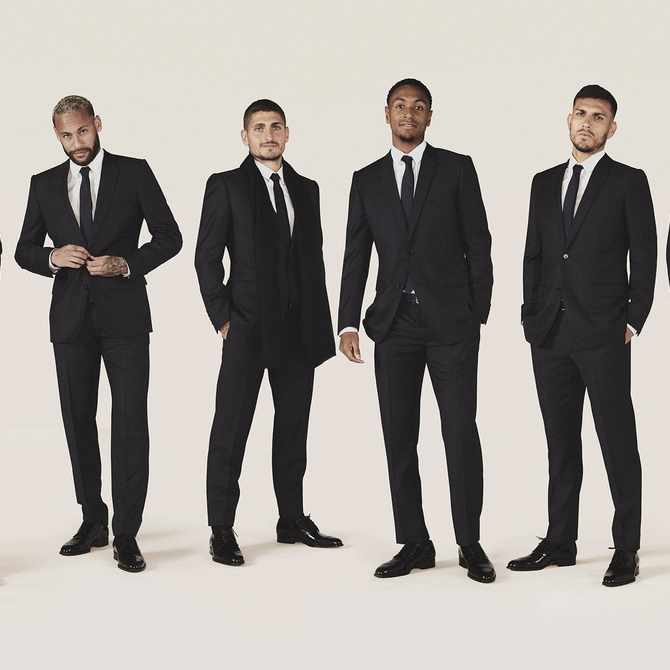 Kitted out: Dior is now the official tailor of PSG