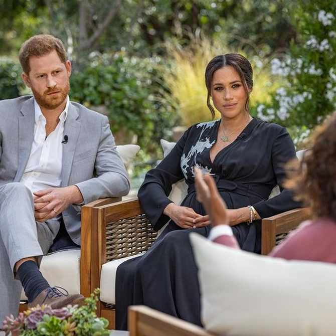 Meghan Markle wears late Princess Diana's tennis bracelet in much anticipated Oprah interview