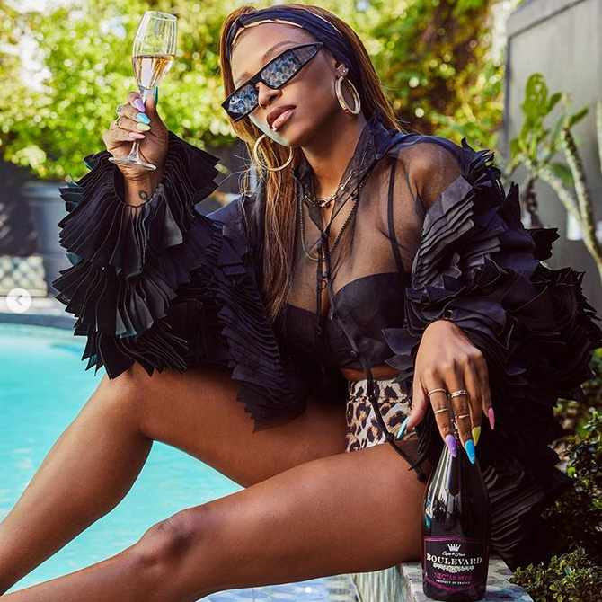 DJ Zinhle takes over as CEO after acquiring equity in Boulevard Nectar Rosé