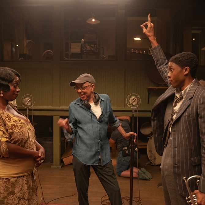 FIRST LOOK: Viola Davis & Chadwick Boseman in Ma Rainey's Black Bottom
