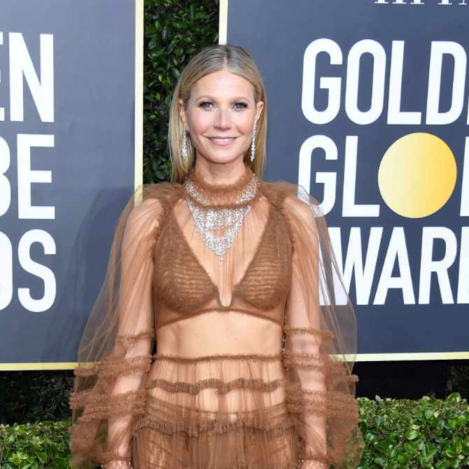 Gwyneth Paltrow was 'beautifully naked' at the Golden Globes