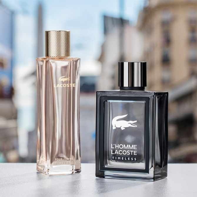 We suggest L'Homme Lacoste Timeless & Lacoste Pour Femme Timeless as the perfect gift for your person