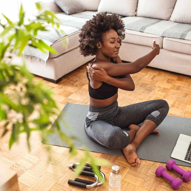 Stream, Stretch and Flex: 5 Simple Stretches to Do While Watching TV