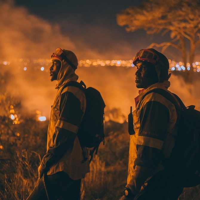 A man in his thirties has been arrested for #CAPETOWNFIRE