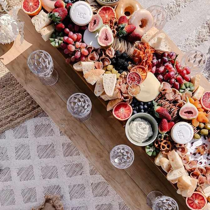 Why grazing tables are a great way to cater for smaller intimate weddings